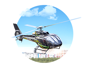 A Plane and a Helicopter Rental